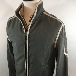 Mens Armani Canvas/Microsuede Motorcyle Jacket